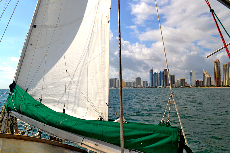 Sailing by Miami